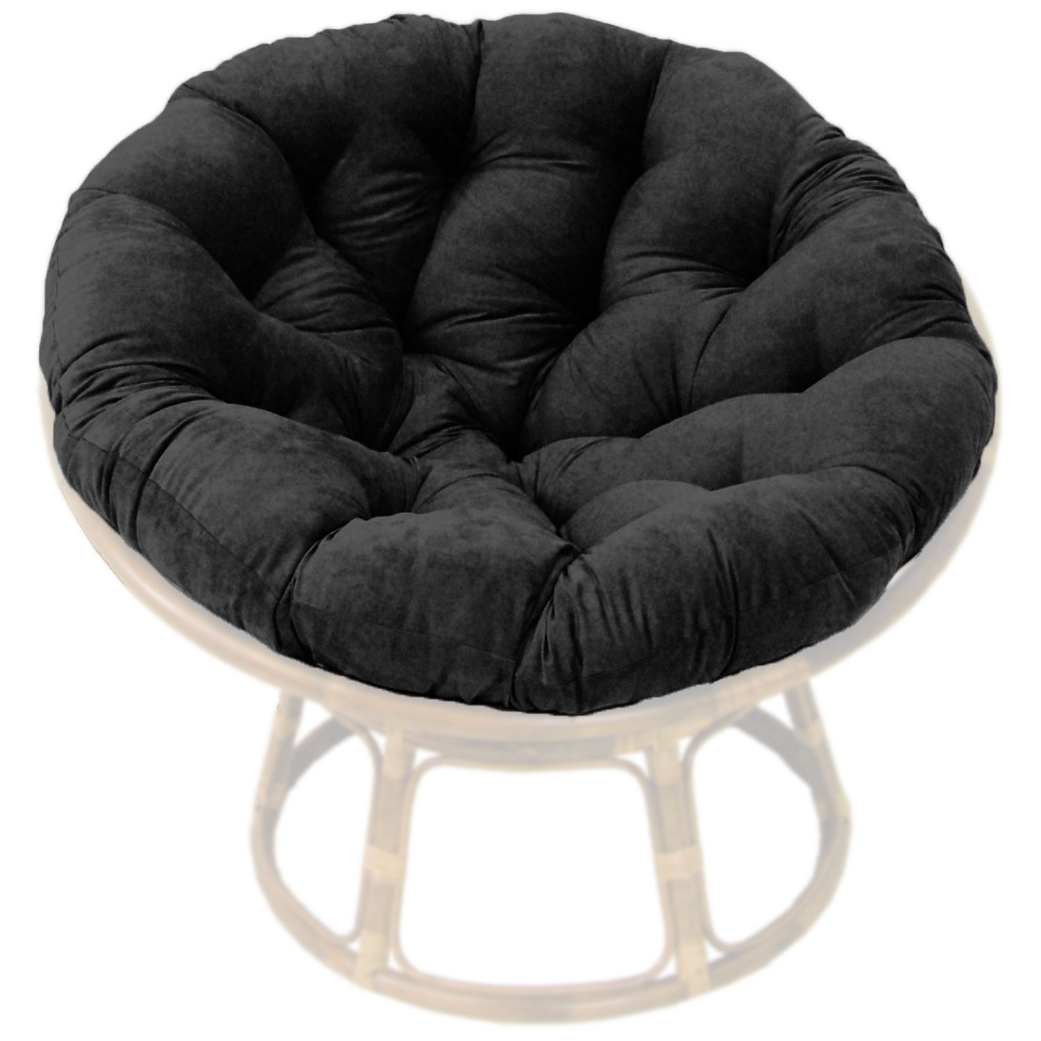 46 Inch Microsuede Tufted Papasan Cushion - BLZ-93302-MS