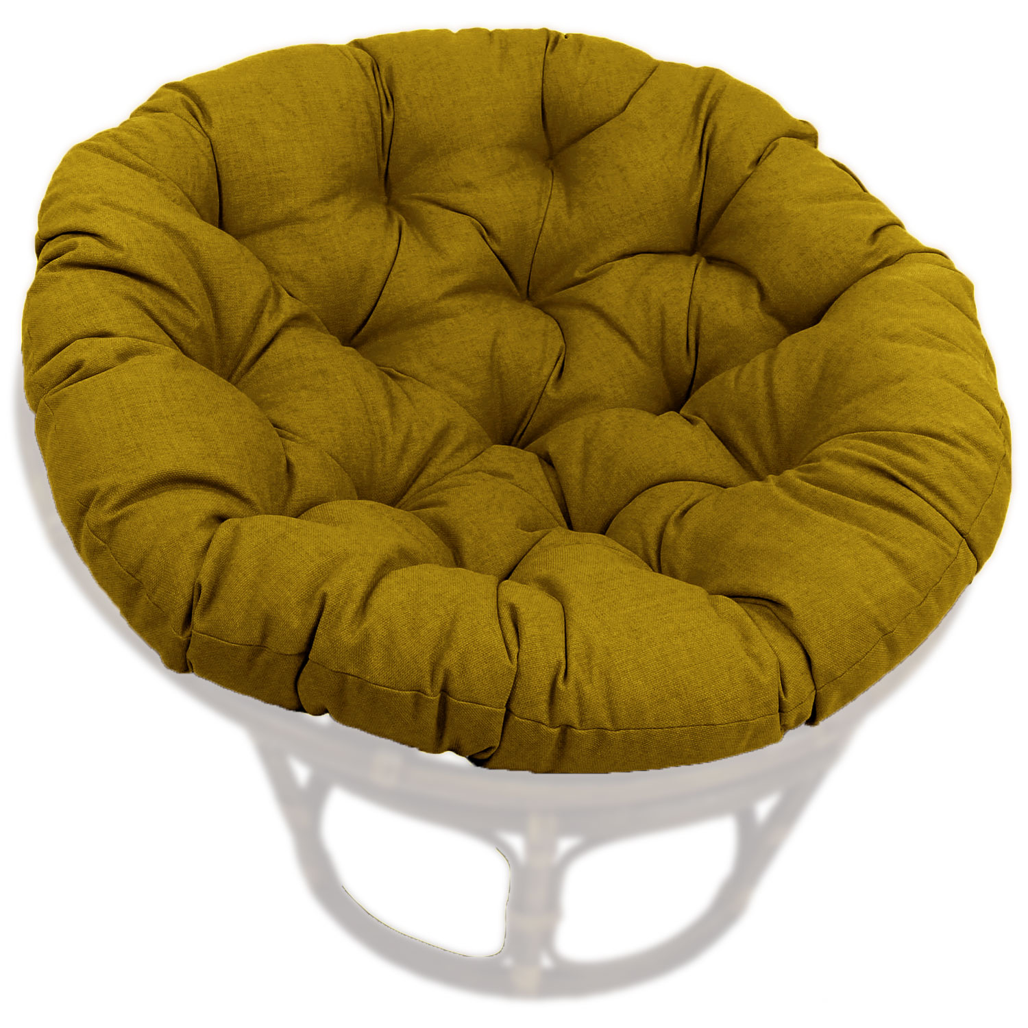 52 Inch Outdoor Fabric Tufted Papasan Cushion - BLZ-93302-52-SOL-REO
