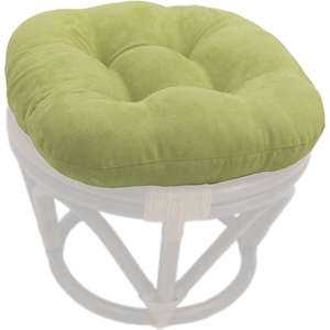 Microsuede 18 Inch Tufted Ottoman Cushion