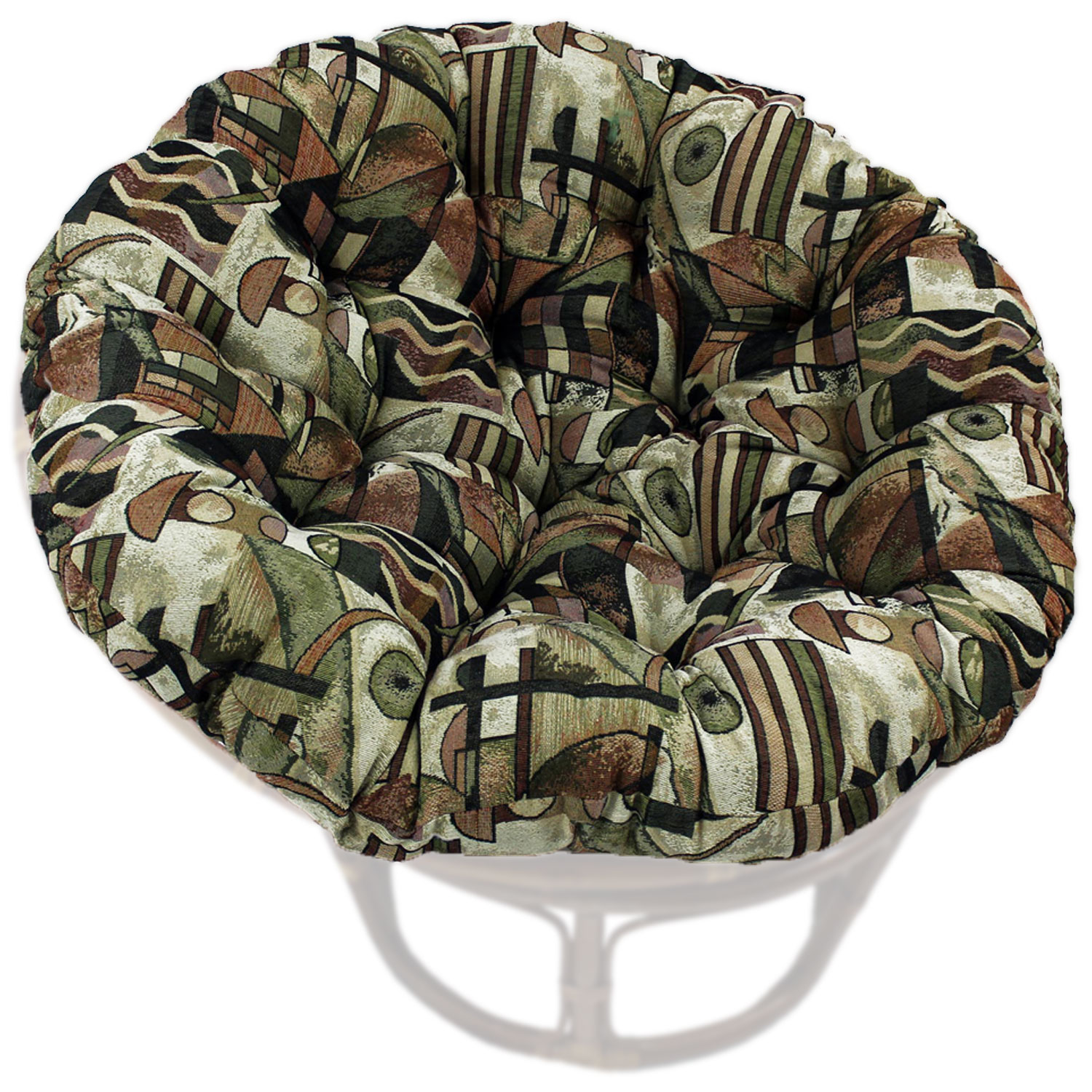 52 Inch Tapestry Fabric Tufted Papasan Cushion