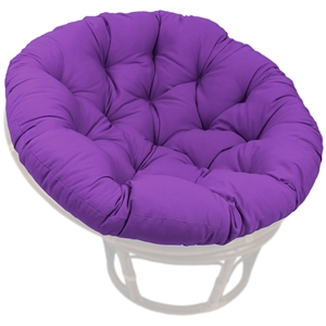52 Inch Solid Twill Tufted Papasan Cushion