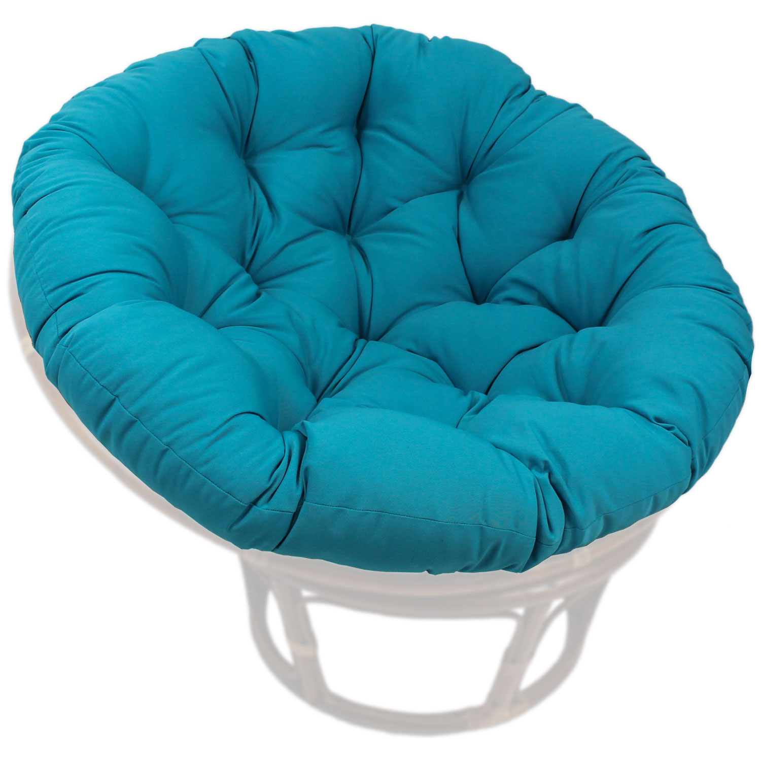 46 Inch Solid Twill Tufted Papasan Cushion
