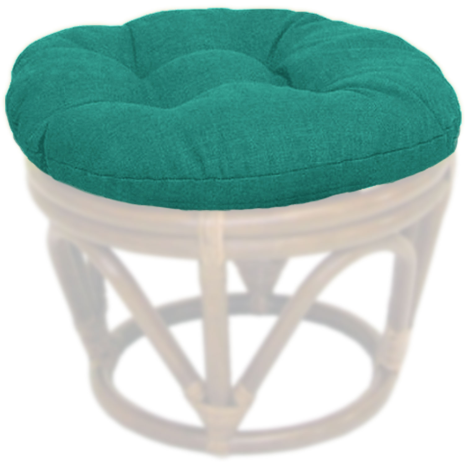 Outdoor Fabric 18 Inch Tufted Ottoman Cushion