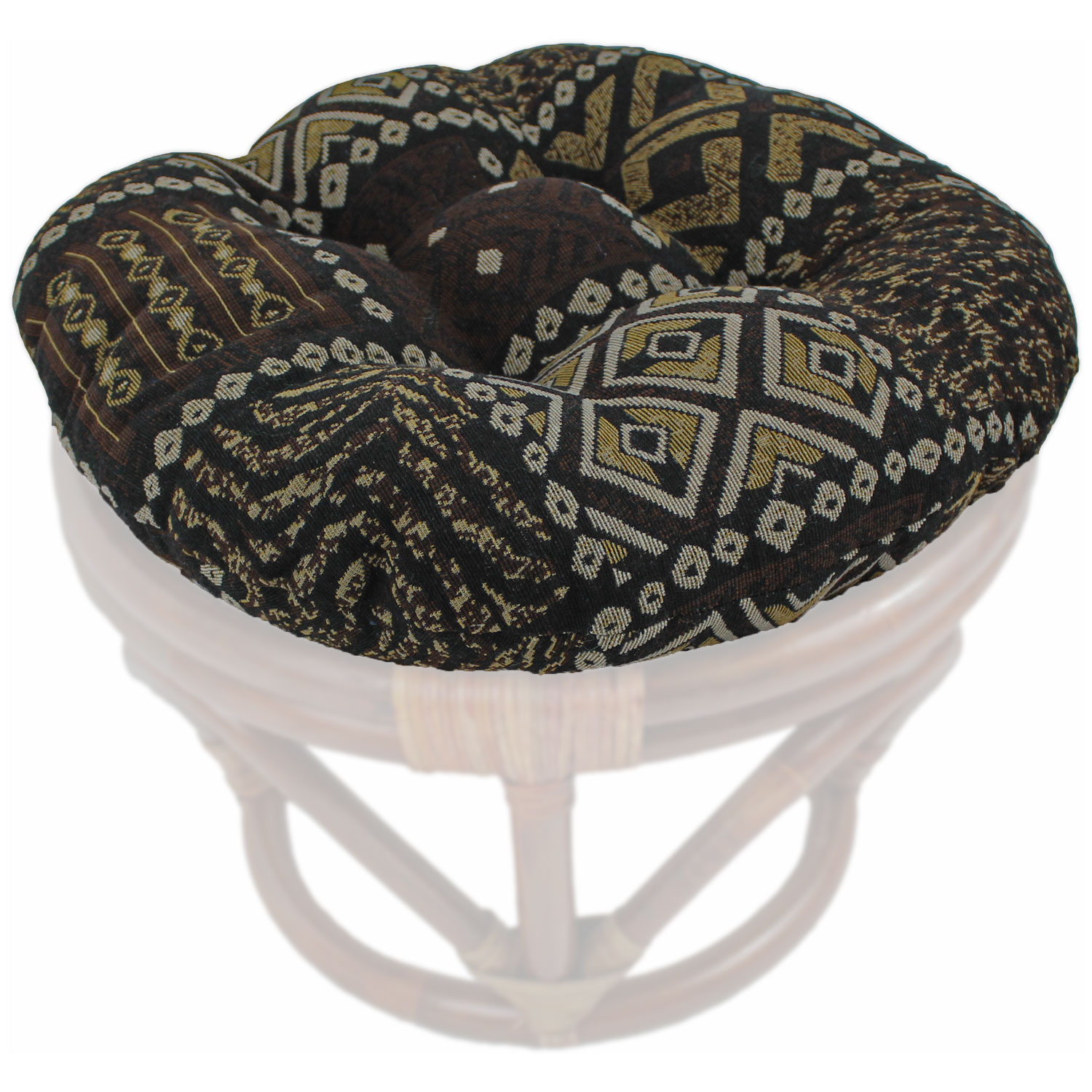 Tapestry Fabric 18 Inch Tufted Ottoman Cushion - BLZ-93301-T