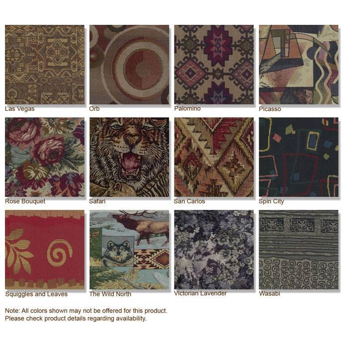 tapestry fabric swivel rocker papasan cushion