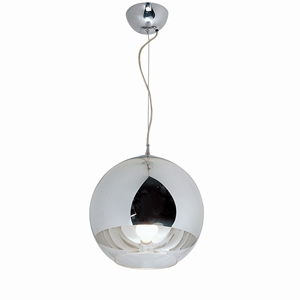 Orion 10 Inch Orb Pendant Light- Blown Glass, Metal