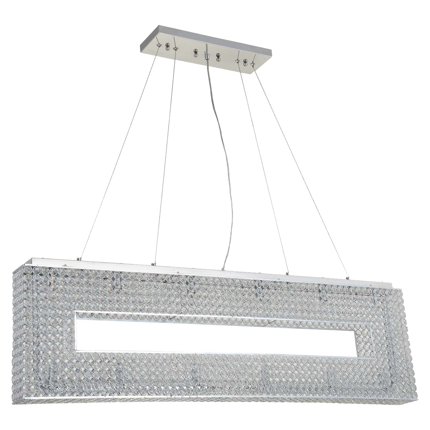 Illusion 12-Light Chandelier - Chrome, Crystals - BROM-B1806