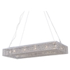 Illusion Modern 12-Light Chandelier - Crystals, Chrome - BROM-B1807