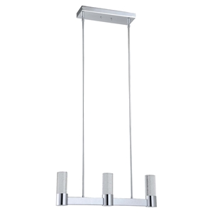 Talon Modern Pendant - 3 Lights, Chrome Finish