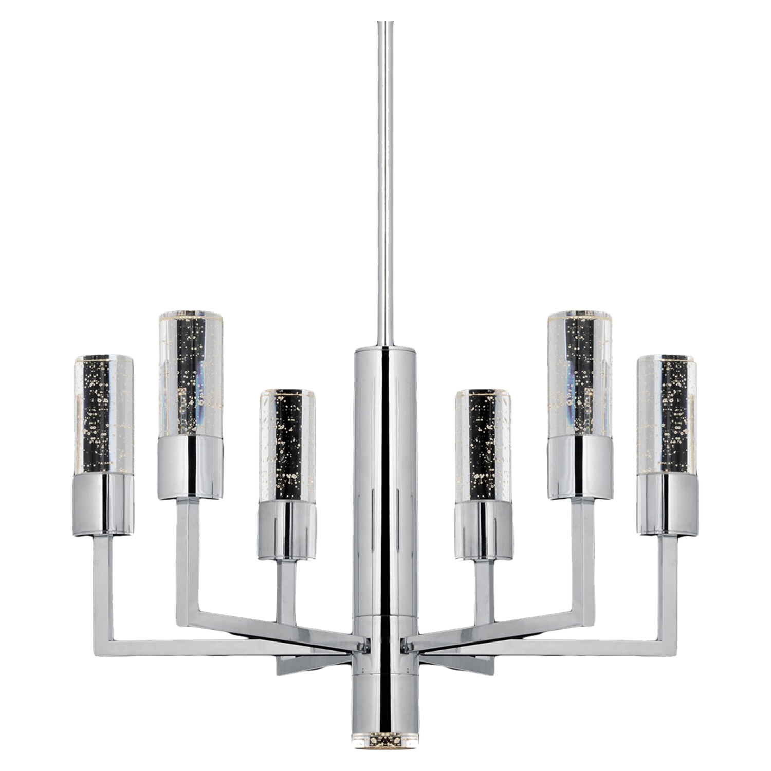 Talon 7-Light Round Pendant - Chrome Finish, Modern - BROM-B2706
