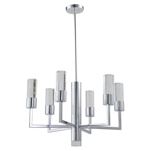 Talon 7-Light Round Pendant - Chrome Finish, Modern