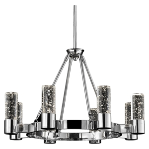 Talon 8-Light Round Pendant - Chrome Finish, Modern