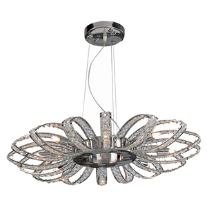 Brilliance 8-Light Crystal Chandelier - Chrome