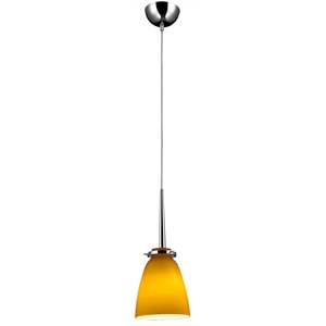 Belmont Mini Pendant Light - Chrome Metal, Gold Glass