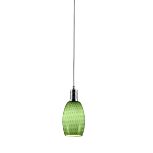 Prospect Mini Pendant Lamp - Metal, Green Glass