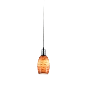 Prospect Mini Pendant Lamp - Metal, Red Glass
