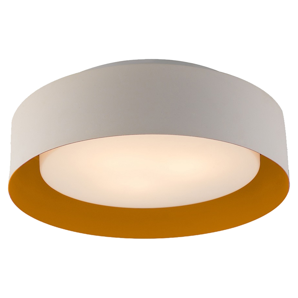 Lynch Flush Mount Ceiling Light White And Orange DCG