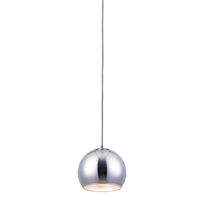 Wade Pendant Light - Round, Metal, Chrome