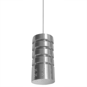 Camden Mini Pendant Light - Stainless Steel, Rings, Bottom Holes