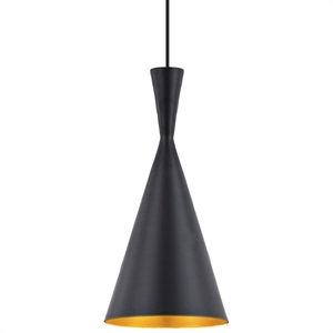 Berkley Single Light Pendant Lamp - Black, Metal