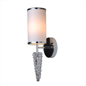 Saffron Wall Light - Crystal, White & Chrome, Metal