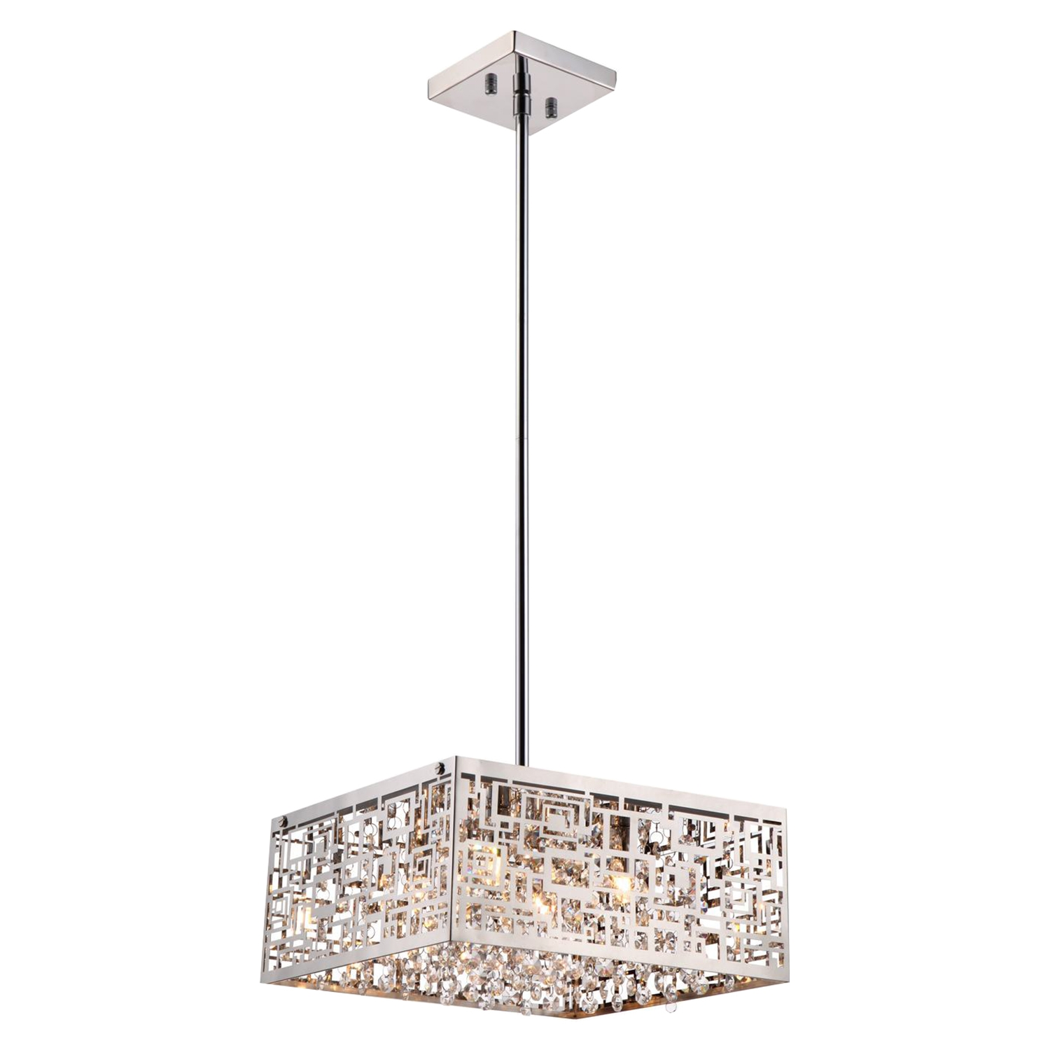 Metropolitan 4-Light Pendant - Chrome, Crystals - BROM-B8201S