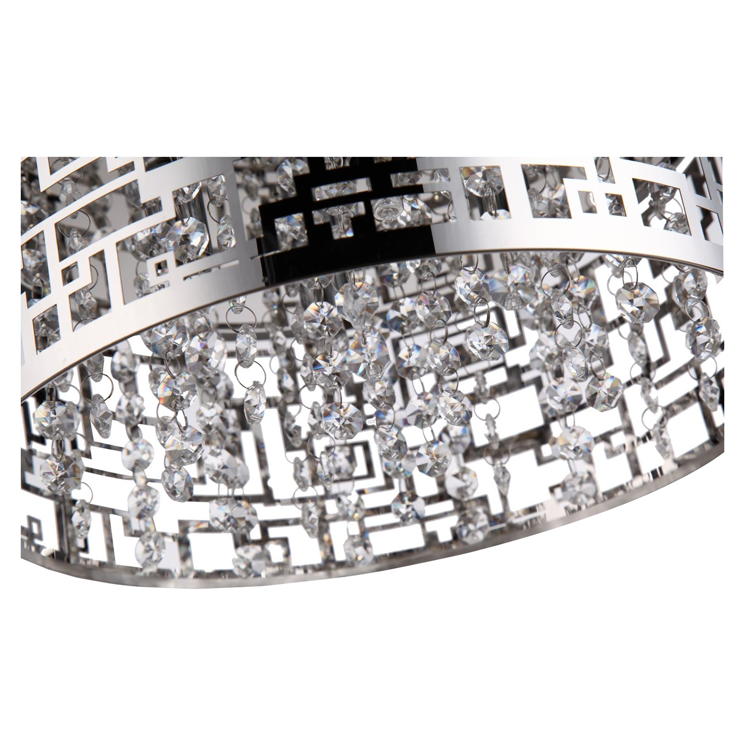 Metropolitan Pendant - Chrome, Crystals, 4 Lights - BROM-B8204R