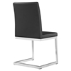 Manhattan Dining Chair - Black Leather Look, Stainless Steel - BROM-BF3710BL