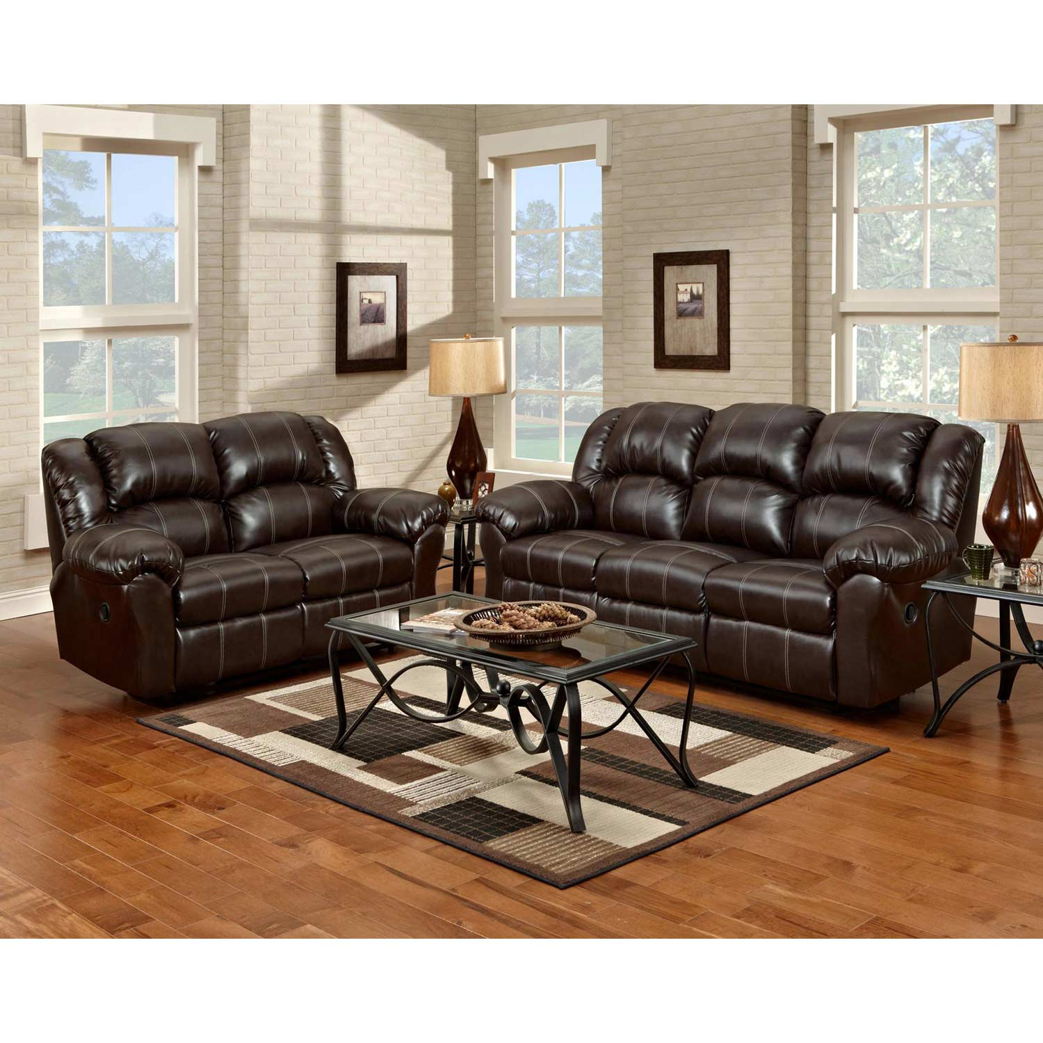 Ambrose Sofa Recliner Brandon Brown Leather Dcg Stores