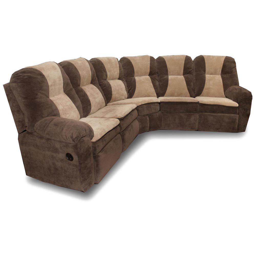 Mustang Reclining Sectional Sofa - Pillow Top Arms