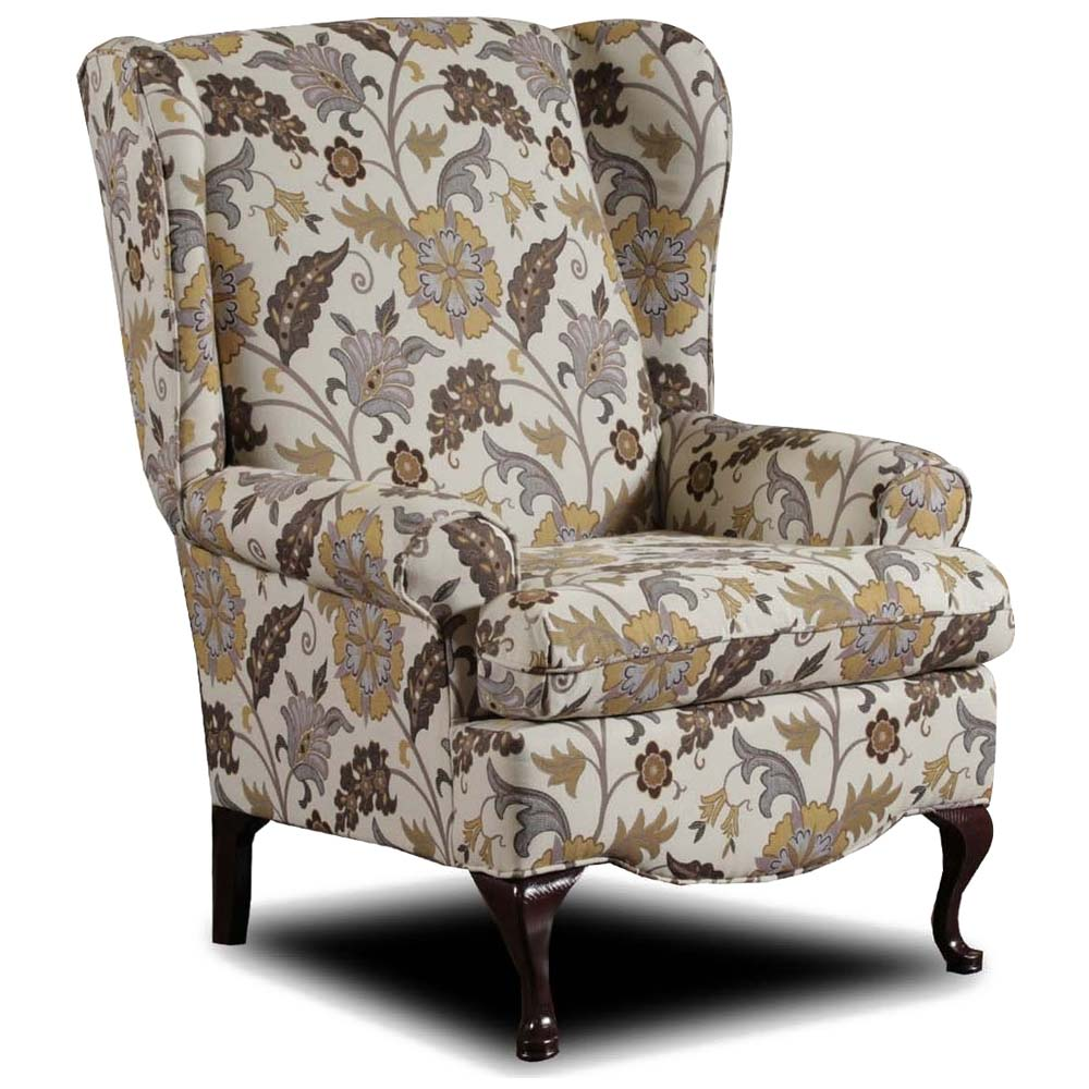 Tulsa Wingback Chair Ivy Falls Mimosa Fabric Dcg Stores