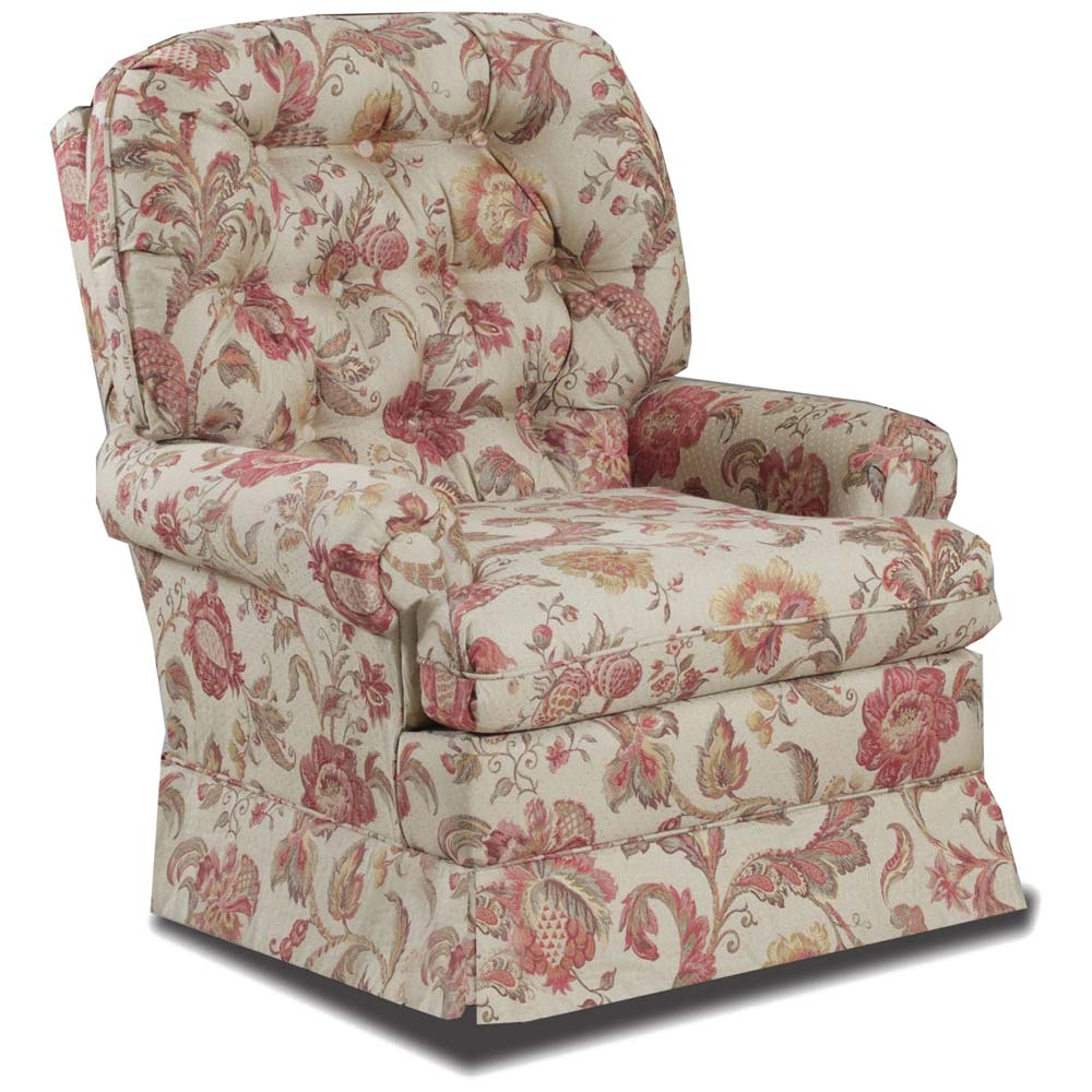 Ada Tufted Floral Swivel Chair Eliosa Tuscany Fabric