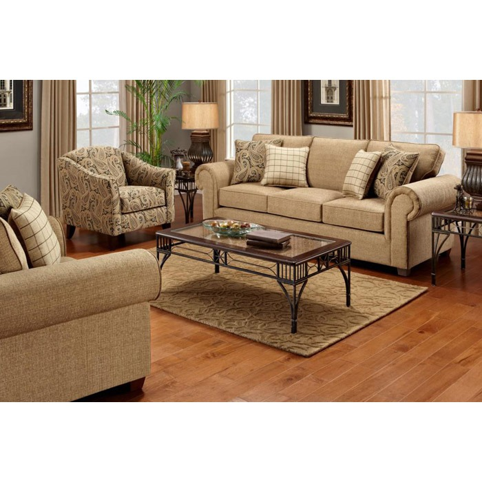 Sussex sofa set in burbank ochre fabric dcg stores for Furniture stores in burbank