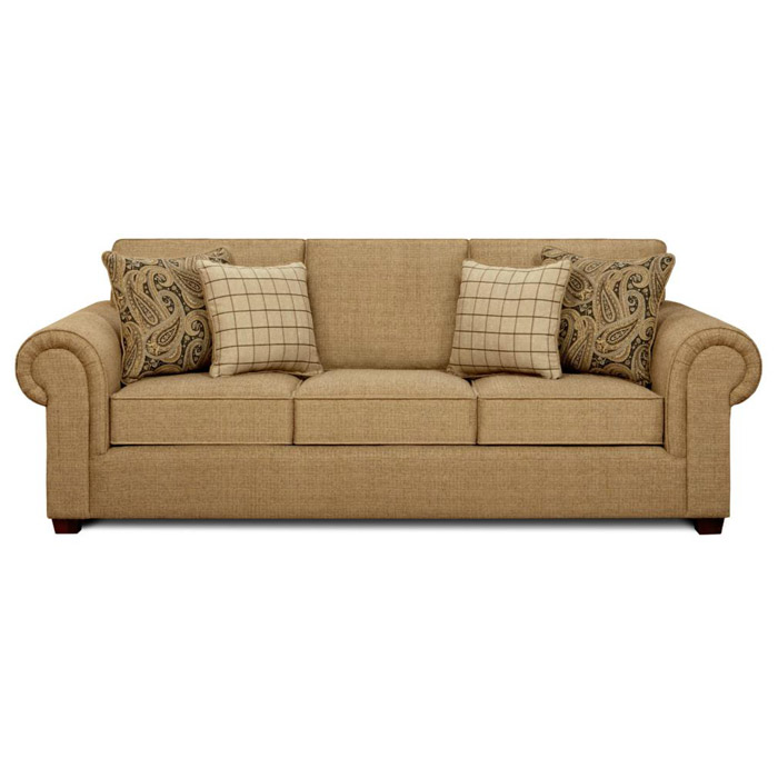 Sussex Fabric Sofa With Rolled Arms