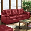 Anaheim Leather Sofa - Tufted Back, Thomas Cardinal - CHF-1812503-4112