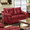 Anaheim Leather Loveseat - Tufted Back, Thomas Cardinal - CHF-181252-4112