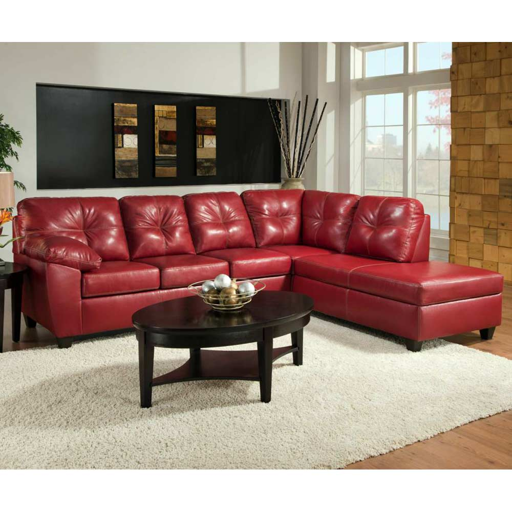 ocean sofa chaise sectional contrast stitching thomas cardinal dcg stores. Black Bedroom Furniture Sets. Home Design Ideas
