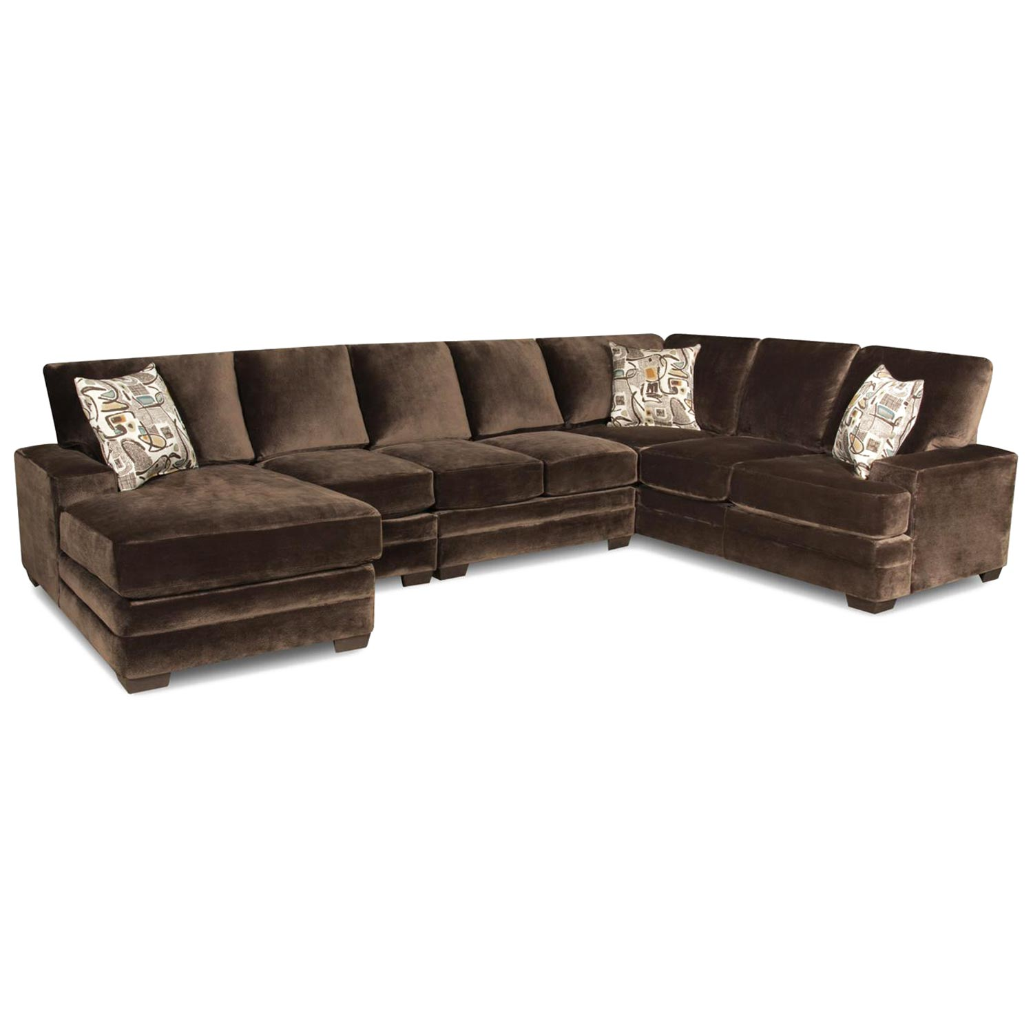 barstow chaise sectional sofa sharpei chocolate fabric. Black Bedroom Furniture Sets. Home Design Ideas