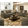 Somerset Transitional Sofa - Temperance Smoke Fabric - CHF-183603-5101