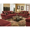 Clearlake Roll Arm Fabric Loveseat - Masterpiece Burgundy - CHF-183702-3952