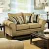 Clearlake Roll Arm Fabric Loveseat - Waverly Suede - CHF-183702-3921