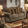 Clearlake Roll Arm Fabric Loveseat - Masterpiece Mushroom - CHF-183702-3953
