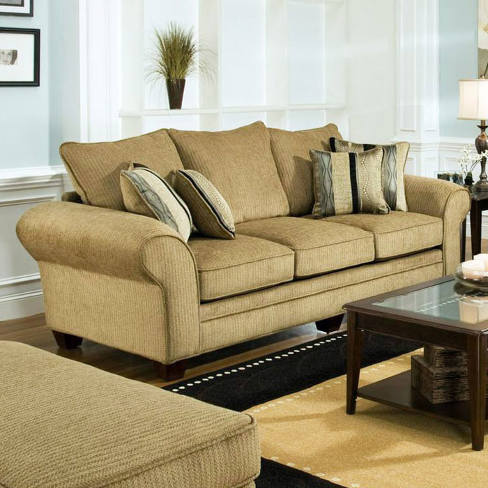 Clearlake Roll Arm Fabric Sofa - Waverly Suede - CHF-183703-3921