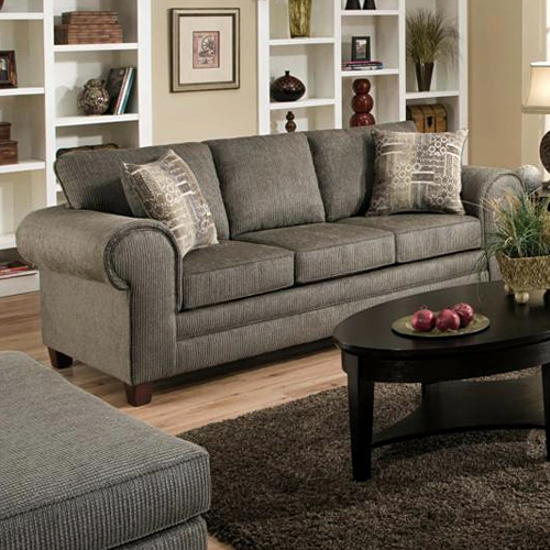 Camden Roll Arm Upholstered Sofa   Romance Graphite   CHF 183753 5750 ...