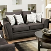 Cupertino Flared Arm Loveseat - Flannel Seal Fabric - CHF-183852-4040