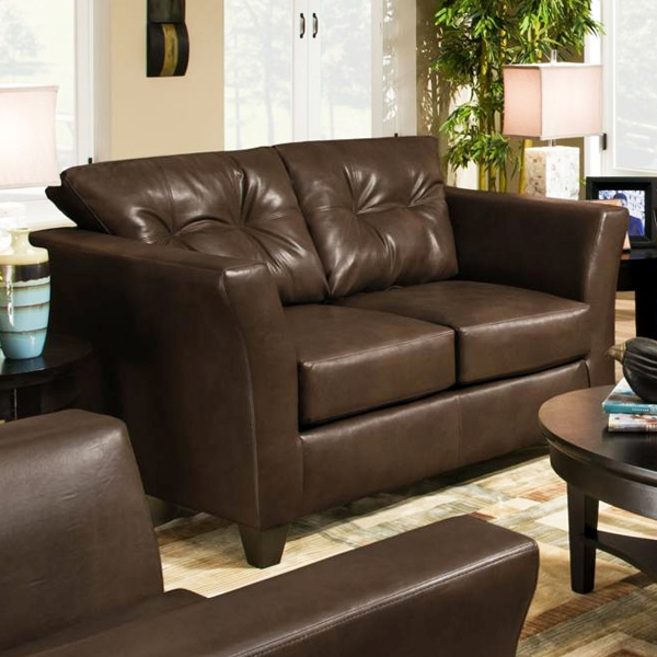 Del Mar Tufted Leather Loveseat - Tonto Espresso - CHF-184502-5121