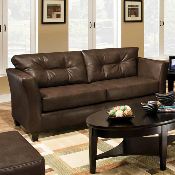 Del Mar Tufted Leather Sofa Tonto Espresso Dcg Stores