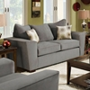 Escondido Tapered Arm Fabric Loveseat - Noble Concrete - CHF-184682-6802