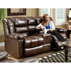 Orleans Upholstered Reclining Loveseat - New Era Walnut - CHF-185502-4800