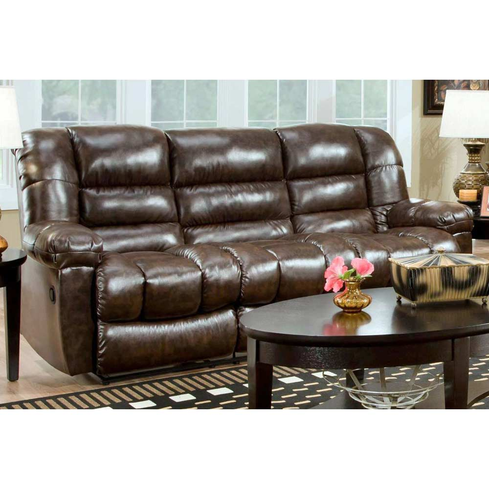 Orleans Upholstered Reclining Sofa New Era Walnut Dcg Stores